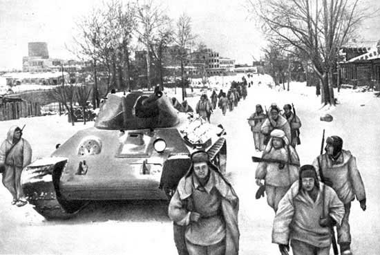 Red Army liberators in Klin (1941)
