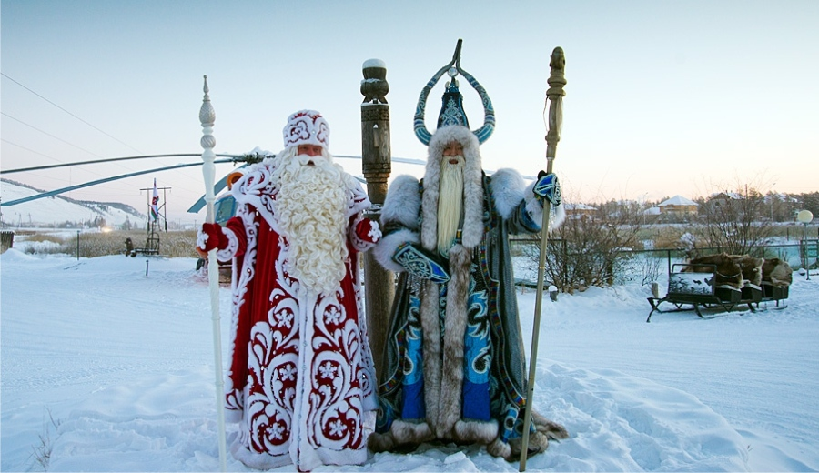 Russian and Yakutian Grandfather Frosts © Bolot Bochkaryov