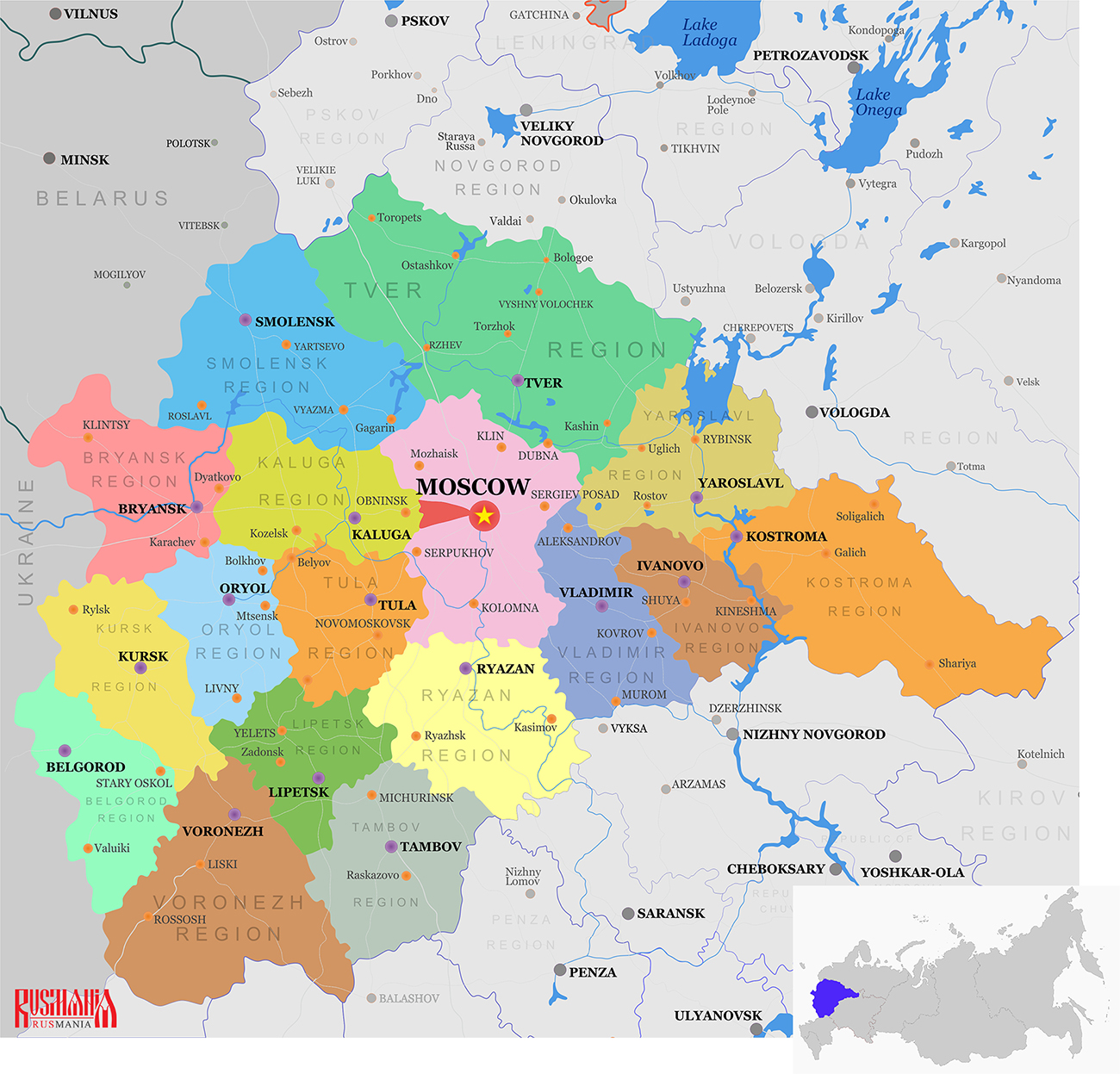 Gatchina: population, area, city history, geographical location