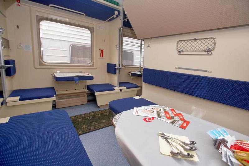 Platskartny carriage of a premium train | ©rzd.ru