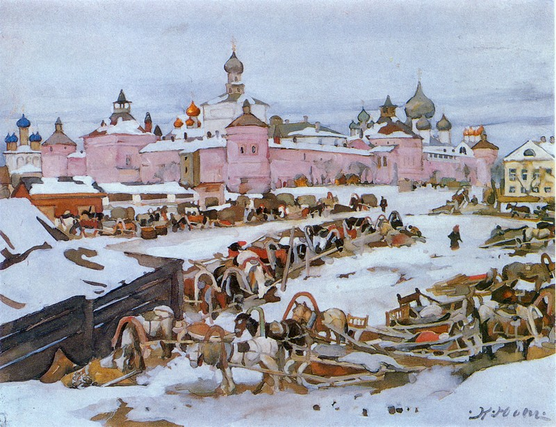 'The Rostov Kremlin' by Konstantin Yuon
