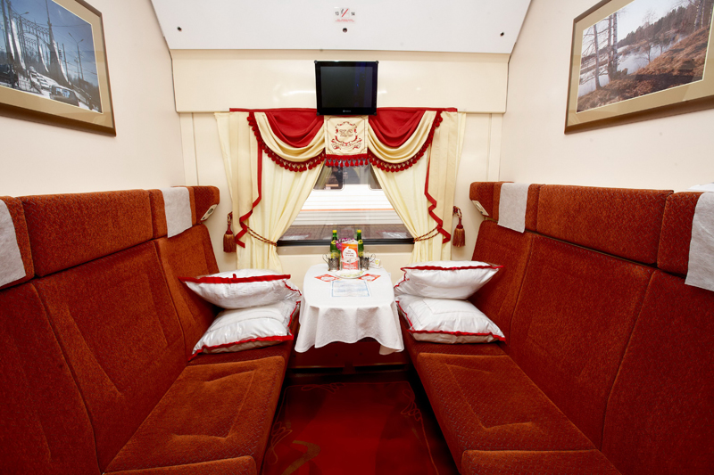 1st class compartment in the Red Arrow train  ©rzd.ru