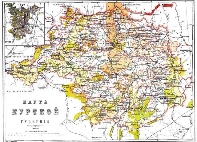 History Of Kursk Rusmania - Kursk map