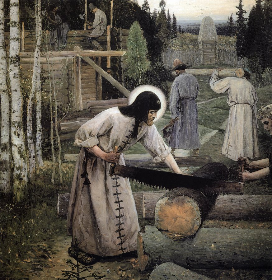 'Labours of St Sergius of Radonezh' by Mikhail Nesterov