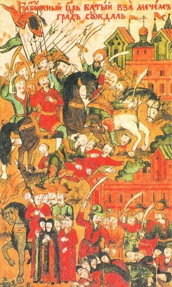 Invasion of Suzdal by the Mongol-Tatars as depicting in a hagiography of St Euthymius of Suzdal