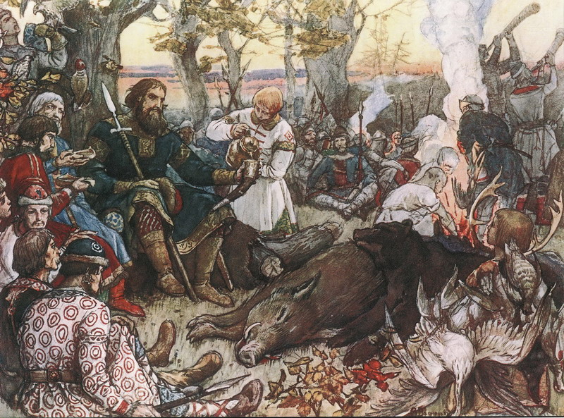 'Vladimir Monomakh Resting after a Hunt' by Apollinary Vasnetsov