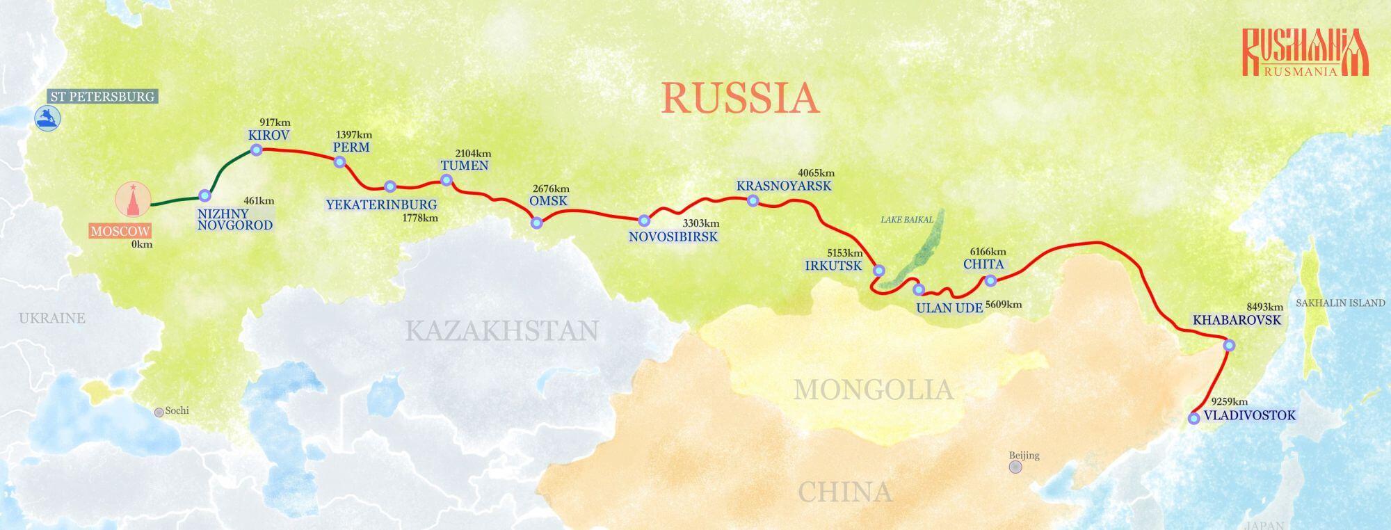 Structure Of Trans Siberian Railway Rusmania