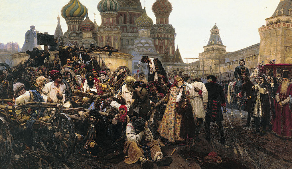 'Morning of the Streltsy's execution' by Vasily Surikov (1881)