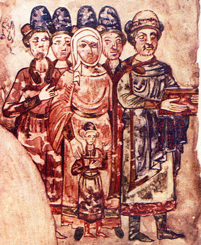 Minature of Svyatoslav and his family