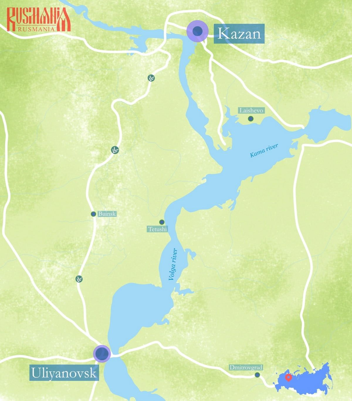 Day tour to Uliyanovsk from Kazan