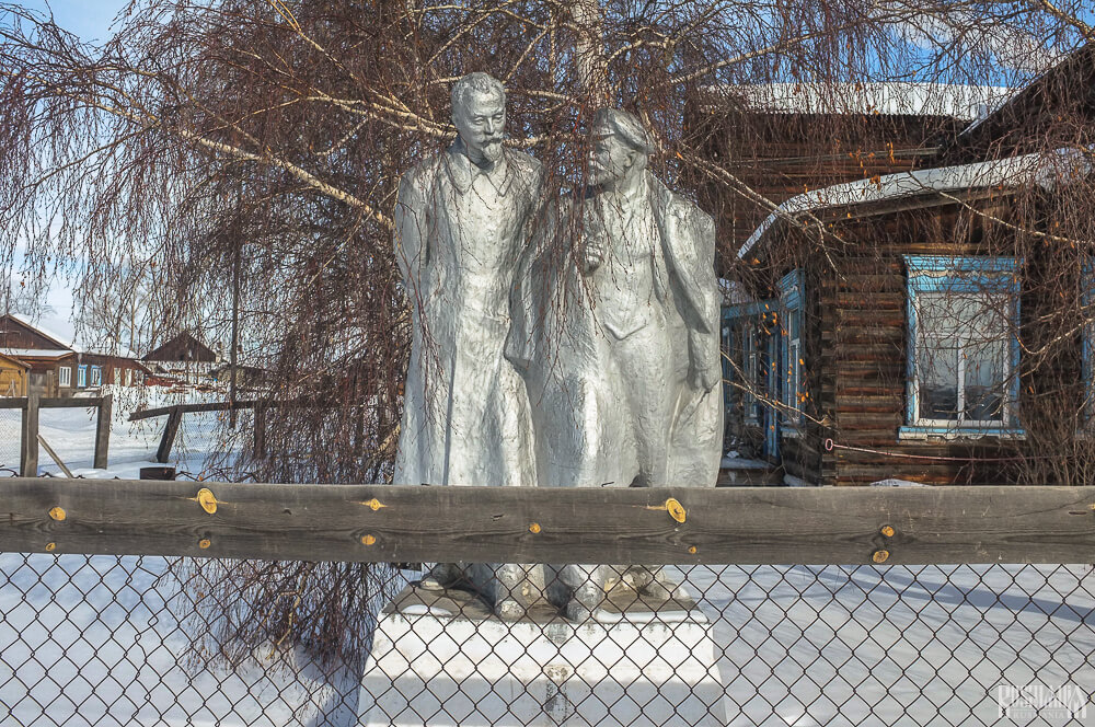 Lenin and Dzerzhinsk Monument, Ust-Barguzin